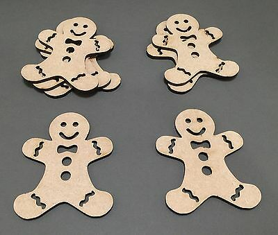 C15 100mm Christmas Xmas Gingerbread Man Gift Tags LASER CUT Wooden Craft Shapes