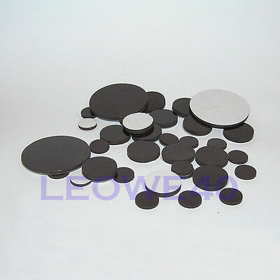self adhesive disk magnets round rubber magnetic craft dots various sizes