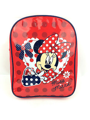 New Official Minnie Mouse Girls Kids Backpack Rucksack Nursery School Travel Bag