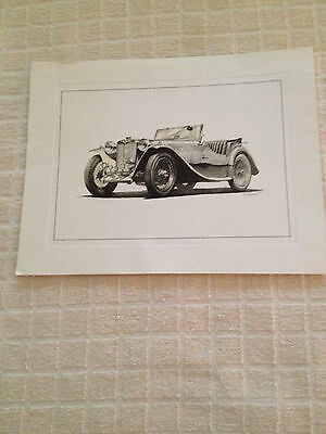 William Kuhlman Art Print - 1948 MG-TC - Collectors Illustration Series