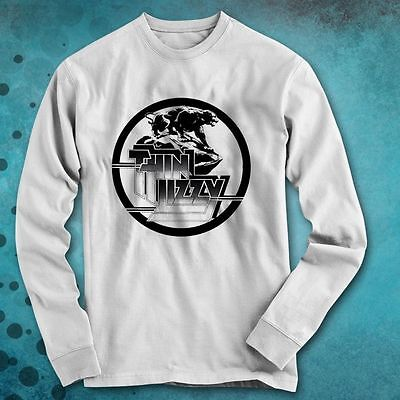 Thin Lizzy  Rock Band Long Sleeve Shirt Size S to 3XL