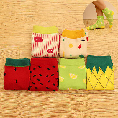 Women Trendy Sweet Lovely Autumn Fruit Cotton Thicken High Quality Socks