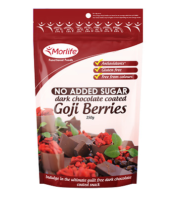 Morlife Dark Chocolate Goji Berries 125gm | Sugar Free |  Antioxidant rich