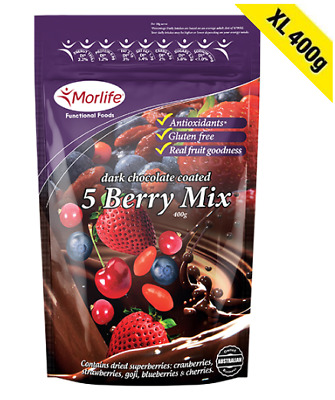 Morlife Chocolate Five Berry Mix 400g