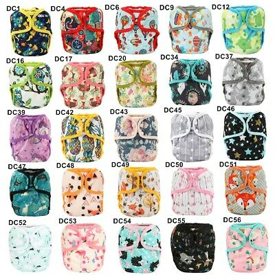 U PICK Diaper Cover Nappy Cover Double Gussets One Size Reusable Color Trim