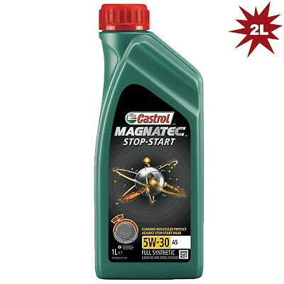 Castrol Magnatec STOP-START 5W-30 A5 Fully Synthetic Engine Oil - 2x1L = 2 Litre
