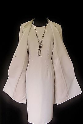 CONDICI Size 10 Lilac Grey Silver Ladies Designer Wedding Dress & Jacket Outfit