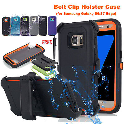 Heavy Duty Hybrid Full Cover w Belt Clip Case For Samsung Galaxy S7/ S8+ /Note 8