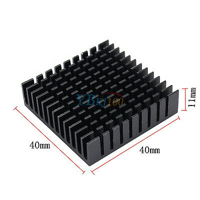 1PCS Heat Sink Aluminum Cooling Fin HeatSink 40*40*11MM for Router CPU IC