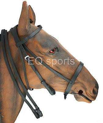 FAST P&P Leather Hunting Style /Hunting Bridle SIZE Full Black