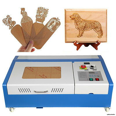 40W USB Laser Engraver Engraving Cutter Cutting Machine Hermetic CO2 Glass Tube