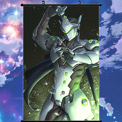 Overwatch Genji Cool Home Decor Poster Wall Scroll Painting 60cm*90cm