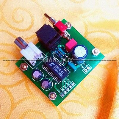 Assembled Coaxial Optical Receiver Board TO IIS I2S output CS8412 for amplifier
