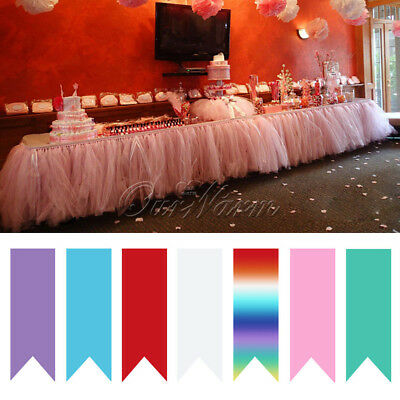 Ourwarm TUTU Tulle Table Skirts for Wedding Party Birthday Baby Shower Birthday