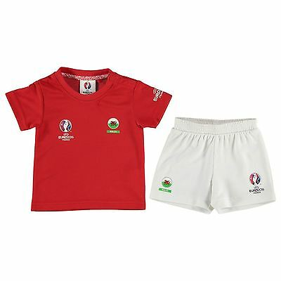 Baby Infant UEFA Euro 2016 Wales Official Football Kit Top Shorts 3-6 Month HA13
