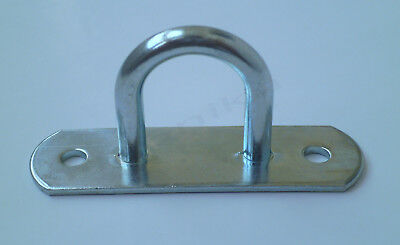 1 x Tie Down Lashing D Ring Awning Tarp Load Securing Steel Hook Anchor Point