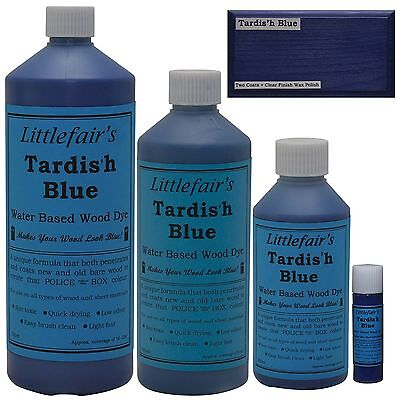 Littlefair's Water Based Rustic Shabby Chic Wood Stain and Dye - Tardis'h Blue