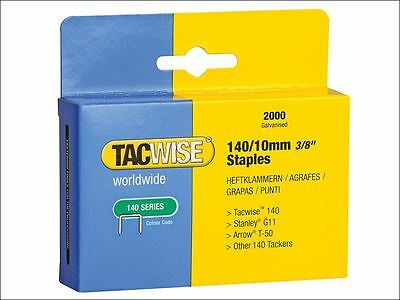 Tacwise - 140 Heavy-Duty Staples 10mm (Type T50, G) Pack 2000