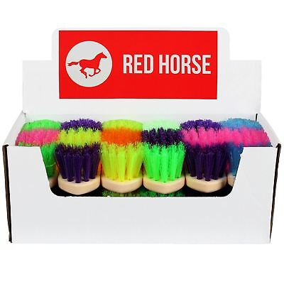 Red Horse Equestrian Grooming Cleaning Braiding Elastics Mane Brushes All Colour