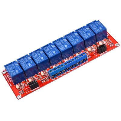8-Channel 5V Relay Module High and Low Level Trigger with Opto Isolation Arduino