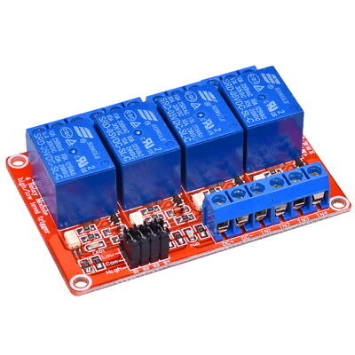 4-Channel 5V Relay Module High and Low Level Trigger with Opto Isolation Arduino