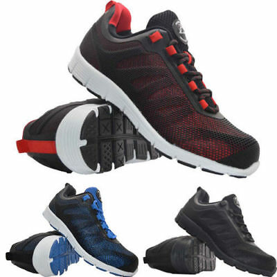 New Mens Ultra Light Weight Groundwork Safety Steel Toe Cap Work Trainers Shoes