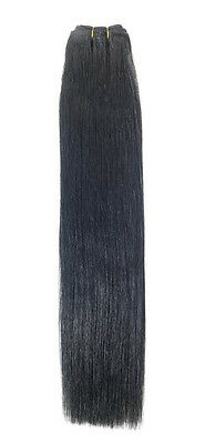 Euro Silky Weave | Human Hair Extensions | 22 inch | Colour 1 Jet Black