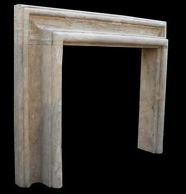 Hand Carved Marble Fireplace Mantel, Old World Style, Tuscany