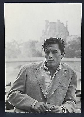 Alain Delon - AK - Foto Autogramm-Karte - Photo Postcard (Lot F7169