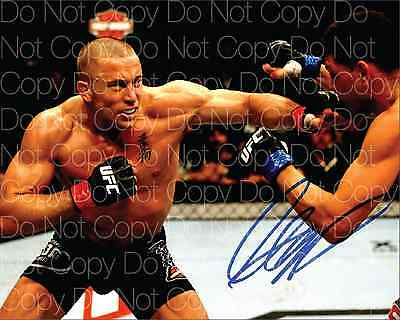George St. Pierre UFC MMA signed 8X10 photo picture poster autograph RP