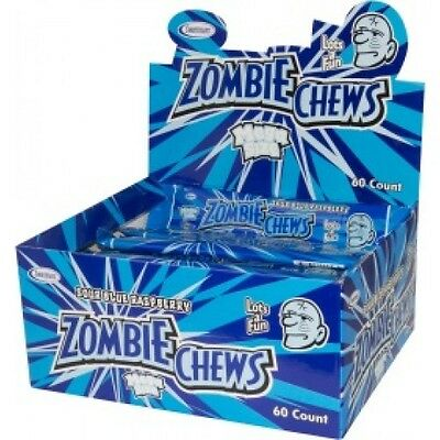 Zombie Chews Sour Blue Raspberry 60 pieces • AUD 29.95