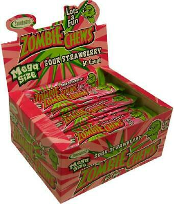 Zombie Chews Sour Strawberry 60 pieces