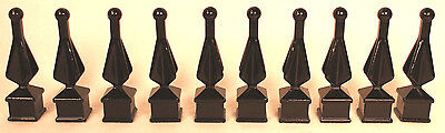 5/8 Fence Topper s Cap Black Metal Top Post Gate Wrought Iron Spear Ornamental