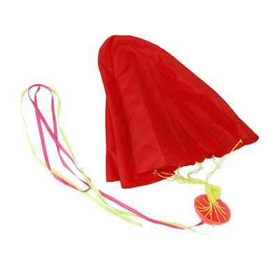 1x Tangle-Free Mini Parachute Sky Flying Kids Outdoor Park Toys Gifts Red