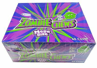 Zombie Chews Sour Grape 60 pieces
