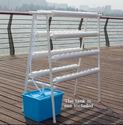 Hydroponic Site Grow Kit 70 Holes Ebb and Flow Deep Water Ladder Garden Plant