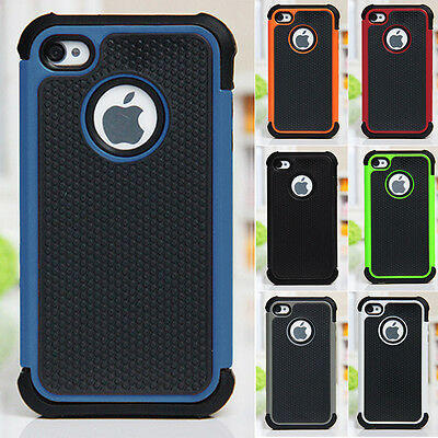 Shockproof Hybrid Gel Silicone Skin Case Cover For Apple iPhone 4/4S 5/5S