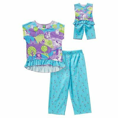 Girl 4-14 and Doll Matching Princess Kitty Cat Pajamas Outfit fit American Girl