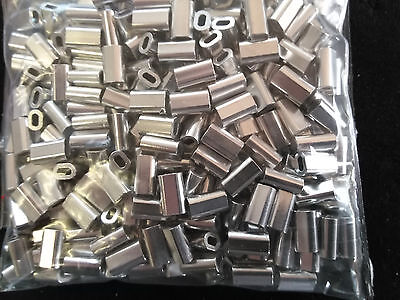 ALLOY CRIMPS 1.5mm x 500 Pack TERMINAL FISHING TACKLE CRIMPING SLEEVES