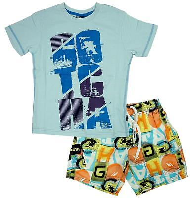 Boys T-Shirt Top Mesh Lined Swim Shorts Gotcha! Beach Outfit Set 10 or 12 Years