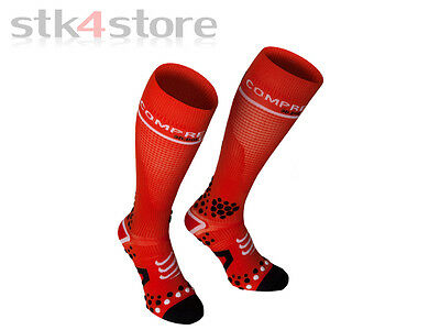 Calcetines Compressport Full Socks V2 - Talla 3M - Rojo