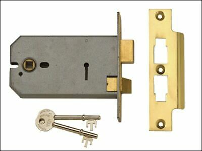 UNION - 2077-6 3 Lever Horizontal Mortice Lock Polished Brass 149mm