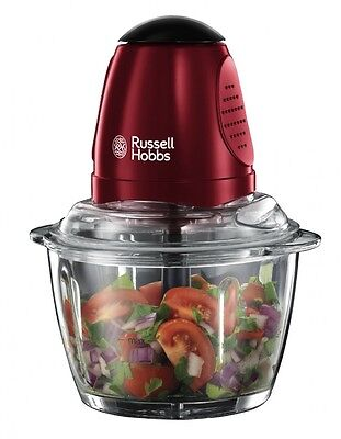 Russell Hobbs 20320 Rosso Mini Chopper - Red. Free Delivery