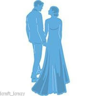 Marianne Design Creatable Die Cut Embossing Stencil Bride Groom Lr0427 Wedding