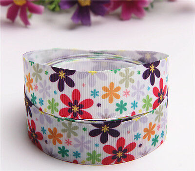 "Wholesale! 1.5/5/10/yds 7/8""22mm printed grosgrain ribbon Hair bow sewing  R60"