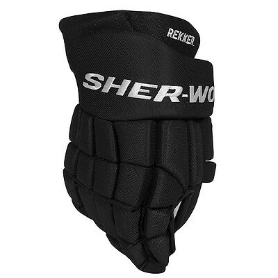 Sher-Wood EK9 ICE HOCKEY GLOVES, Black semi pro hockey glove