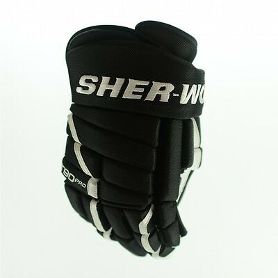 Sher-Wood T90 PRO Hockey Glove (Black / White), pro ice hockey gloves