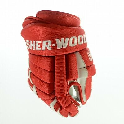 SHER-WOOD T90 PRO Ice Hockey Glove (RED/ white), pro ice hockey gloves