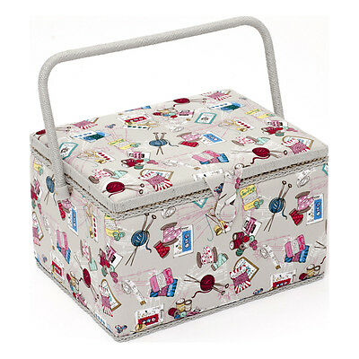 NEW | HobbyGift MRL/120 | Large Sewing Box Summer Notions Design | FREE SHIPPING