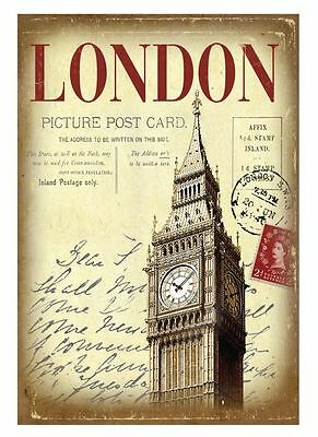 London Picture Postcard Hardback Lined A5 Notebook By Martin Wiscombe